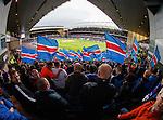 Rangers fans at kick-off