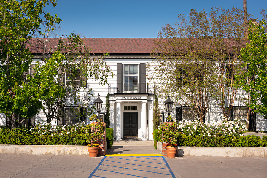 The Office of Admission, Dennis and Mollie Collins Admission House, photographed June 8, 2018.<br /> (Photo by Marc Campos, Occidental College Photographer)