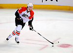 7 December 2009: Philadelphia Flyers' defenseman Braydon Coburn in action against the Montreal Canadiens at the Bell Centre in Montreal, Quebec, Canada. The Canadiens defeated the Flyers 3-1. Mandatory Credit: Ed Wolfstein Photo
