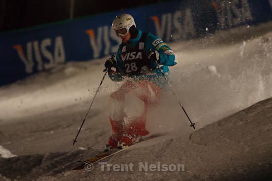 Trent Nelson  |  The Salt Lake Tribune.Jeremy Cota, USA, Moguls competition, Freestyle FIS World Cup at Deer Valley, Saturday, January 16, 2010.