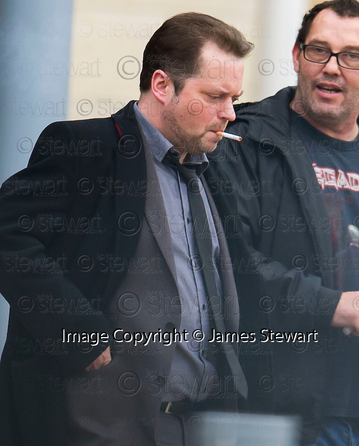 Shaun Harraughty leaves Livingston Sheriff Court after pleading guilty.
