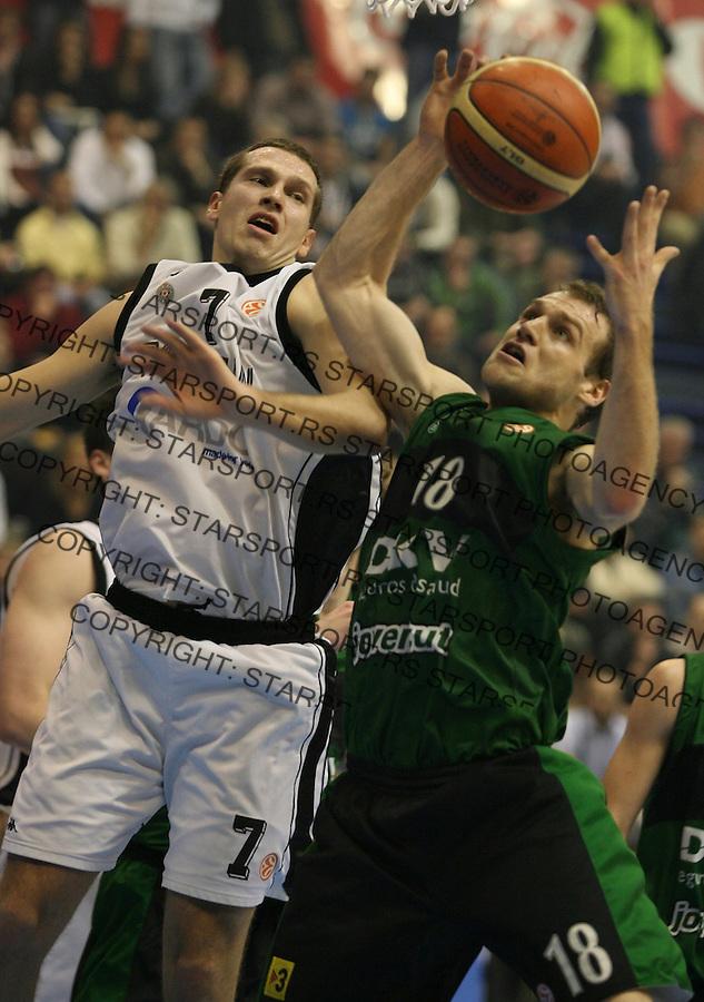 Sport Kosarka Basketball Euroleague Evroliga Partizan Serbia Belgrade Srbija Joventut Huventud Lavina Ferran 1.3.2007. photo: Pedja milosavljevic