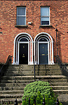 Neighbouring front doors of Georgian terraced housing, Ranelagh district, city of Dublin, Ireland, Irish Republic