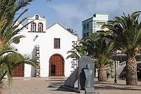 Spain, Canary Islands, La Palma, Villa de Garafia, Santo Domingo: village church