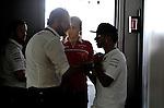 Matteo Bonciani (ITA), FIA  F1 Head of Communications - Lewis Hamilton (GBR), Mercedes GP<br />  Foto &copy; nph / Mathis