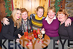 NIGHT OUT; Having a great sing a long on women christmas at ParkersBar, Kilflynn on Sunday night. l-r: Breda Griffin, Trina Houlihan, Mary Griffin, Margaret Shanahan and Nancy Hurley (Kilflynn).