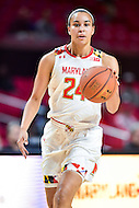 College Park, MD - NOV 16, 2016: Maryland Terrapins forward Stephanie Jones (24) in action during game between Maryland and Maryland Eastern Shore Lady Hawks at XFINITY Center in College Park, MD. The Terps defeated the Lady Hawks 106-61. (Photo by Phil Peters/Media Images International)