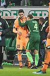 13.01.2018, Weserstadion, Bremen, GER, 1.FBL, SV Werder Bremen vs TSG 1899 Hoffenheim<br /> <br /> im Bild<br /> Benjamin H&uuml;bner / Huebner (1899 Hoffenheim #21), Robert Bauer (Werder Bremen #4) nach Spielende, <br /> <br /> Foto &copy; nordphoto / Ewert