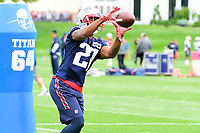 June 7, 2017: New England Patriots defensive back Dwayne Thomas (27) catches the ball at the New England Patriots mini camp held on the practice field at Gillette Stadium, in Foxborough, Massachusetts. Eric Canha/CSM