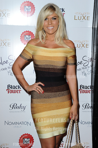 Frankie Essex arriving for the launch of Chloe Sims' book at Luxe nightclub, Essex. 13/11/2012 Picture by: Alexandra Glen / Featureflash
