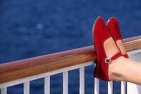 Europe/Croatie/Dalmatie/Korcula: sur le ferry pour l'ile ed Korcula