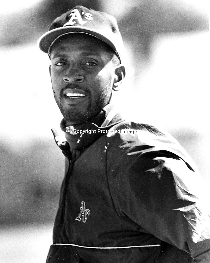 Ernest Riles, Oakland Athletics 1991<br />