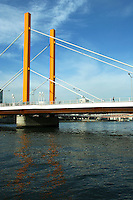 "Shin Ohashi Bridge on the Sumida River. Shin Ohashi or ""New Bridge"" built in 1976, replaced the original bridge built in 1693."