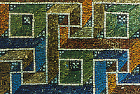 Ravenna: Mosaic--detail of Greek decoration. Mausoleum of Galla Placidia, 5th century.
