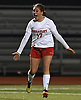 Lexi Burke #17 of Wheatley reacts after scoring the game-winning goal in the second half of overtime to lift her team to a 2-1 win over Cold Spring Harbor in the Nassau County varsity girls soccer Class B final at Bethpage High School on Monday, Oct. 29, 2018.