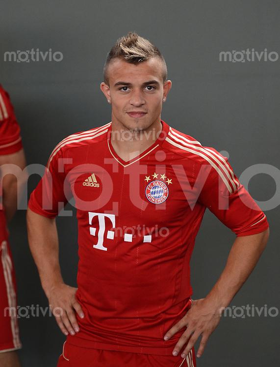 FUSSBALL     1. BUNDESLIGA     SAISON  2012/2013     30.07.2012 Fototermin beim  FC Bayern Muenchen  Xherdan Shaqiri