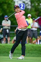 Lydia Ko (NZL) watches her tee shot on 2 during Friday's round 2 of the 2017 KPMG Women's PGA Championship, at Olympia Fields Country Club, Olympia Fields, Illinois. 6/30/2017.<br /> Picture: Golffile | Ken Murray<br /> <br /> <br /> All photo usage must carry mandatory copyright credit (&copy; Golffile | Ken Murray)