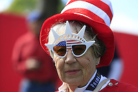 US fan during Thursday's Practice Day of the 41st RyderCup held at Hazeltine National Golf Club, Chaska, Minnesota, USA. 29th September 2016.<br /> Picture: Eoin Clarke | Golffile<br /> <br /> <br /> All photos usage must carry mandatory copyright credit (&copy; Golffile | Eoin Clarke)