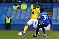 Blackburn Rovers' Ryan Nyambe gets round Sheffield Wednesday's Rolando Aarons<br /> <br /> Photographer David Shipman/CameraSport<br /> <br /> The EFL Sky Bet Championship - Sheffield Wednesday v Blackburn Rovers - Saturday 16th March 2019 - Hillsborough - Sheffield<br /> <br /> World Copyright &copy; 2019 CameraSport. All rights reserved. 43 Linden Ave. Countesthorpe. Leicester. England. LE8 5PG - Tel: +44 (0) 116 277 4147 - admin@camerasport.com - www.camerasport.com
