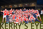 Brosna team and supporters celebrate after they won the Munster Junior final against Glin in Mallow on Sunday