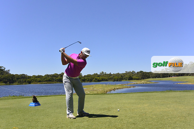 Josh Younger (AUS) on the 3rd tee during Round 3 of the ISPS Handa World Super 6 Perth on Saturday 18th February 2017.<br /> Picture:  Thos Caffrey / Golffile<br /> <br /> All photo usage must carry mandatory copyright credit     (&copy; Golffile | Thos Caffrey)