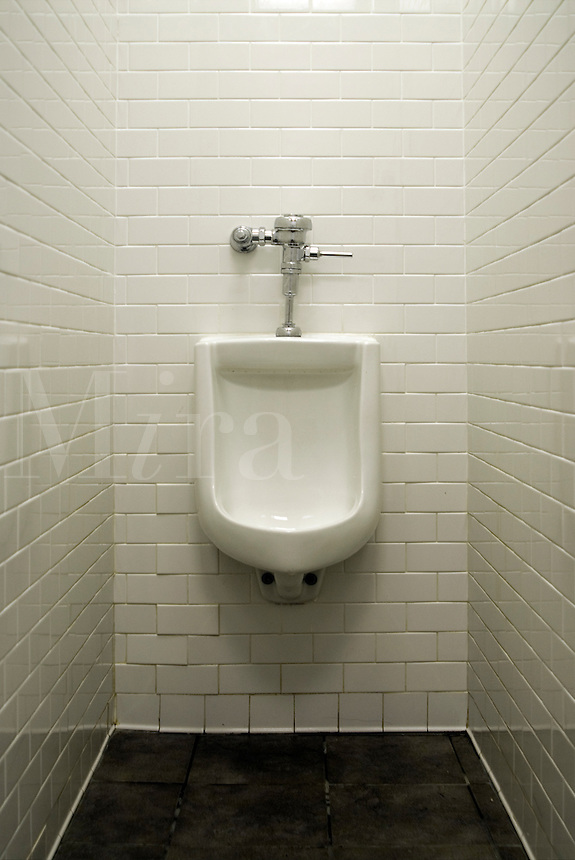 Urinal in mens restroom.