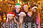 Pictured at the Santa parade in Killarney on Friday from left Aine Cagney, Vanessa Galvin, Bobby Galvin, Colm Cagney, Cillian Courtney and Emer Galvin.