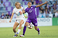 Orlando, FL - Saturday July 15, 2017: Brittany Ratcliffe, Marta during a regular season National Women's Soccer League (NWSL) match between the Orlando Pride and FC Kansas City at Orlando City Stadium.