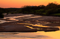 Sunset on the Llano River in the Texas Hill Country.