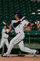 Aaron Hicks of the Fort Myers Miracle during the game against the Daytona Beach Cubs at Jackie Robinson Ballpark on May 15, 2011 in Daytona Beach, Florida. Photo by Scott Jontes / Four Seam Images