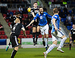 St Johnstone v Hamilton Accies&hellip;10.11.18&hellip;   McDiarmid Park    SPFL<br />Murray Davidson is sent flying by Aaron McGowan<br />Picture by Graeme Hart. <br />Copyright Perthshire Picture Agency<br />Tel: 01738 623350  Mobile: 07990 594431