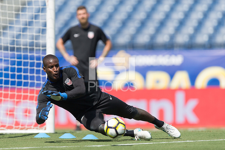 Nashville, TN - July 7, 2017: Bill Hamid during Official Training @ Nissan Stadium prior to their 2017 Gold Cup.