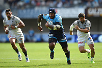 Nemani Nadolo scores a try during the Top 14 match between Montpellier and Brive at  on October 1, 2017 in Montpellier, France. (Photo by Alexandre Dimou/Icon Sport)