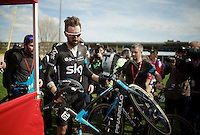 Adieu Wiggo!<br /> Last race for Team SKY is over...<br /> <br /> 113th Paris-Roubaix 2015