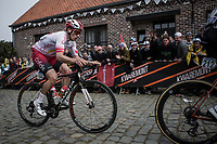 Damien Touze (FRA/Cofidis)  in the early break away group over the cobbles up the 'Oude Kwaremont'<br /> <br /> 103rd Ronde van Vlaanderen 2019<br /> One day race from Antwerp to Oudenaarde (BEL/270km)<br /> <br /> ©kramon