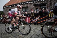 Damien Touze (FRA/Cofidis)  in the early break away group over the cobbles up the 'Oude Kwaremont'<br /> <br /> 103rd Ronde van Vlaanderen 2019<br /> One day race from Antwerp to Oudenaarde (BEL/270km)<br /> <br /> ©kramon
