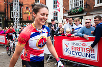 Picture by Alex Whitehead/SWpix.com - 13/05/2018 - British Cycling - HSBC UK National Women's Road Series - Lincoln Grand Prix - Rebecca Durrell of Storey Racing celebrates the win.