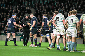 7th December 2017, Twickenham Stadium, London, England; The Varsity Match, Cambridge versus Oxford;  Teammates congratulate Oxfords Will Wilson who scored in the 65th minute