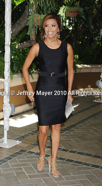 BEVERLY HILLS, CA. - July 28: Eva Longoria Parker arrives at The Hollywood Foreign Press Association Annual Installation Luncheon held at The Four Seasons Hotel on July 28, 2010 in Beverly Hills, California.
