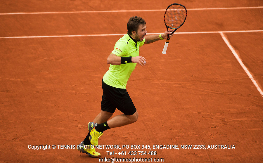 STAN WAWRINKA (SUI)<br /> <br /> TENNIS - FRENCH OPEN - ROLAND GARROS - ATP - WTA - ITF - GRAND SLAM - CHAMPIONSHIPS - PARIS - FRANCE - 2016  <br /> <br /> <br /> <br /> &copy; TENNIS PHOTO NETWORK