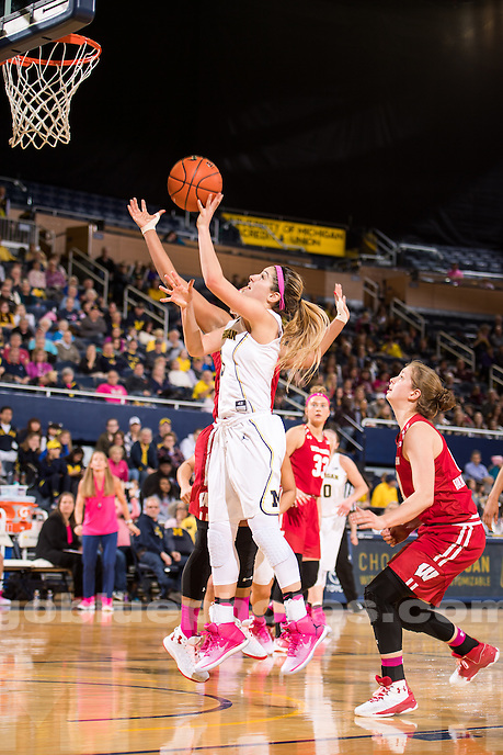 The University of Michigan women's basketball team defeats Wisconsin, 75-66, at Crisler Center in Ann Arbor, MI on February, 12, 2017.