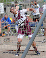 Logan-Rogersville freshman Gunnar Allison prepares to throw the discus in the Class 3 Boys Discus at the Missouri High School Class 3-4 State Track and Field Championships in Jefferson City, Saturday, May 25, 2013. Allison finished 5th with a best toss of 147-09.