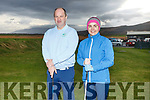 John Dillane (Castlegregory Mens Captain) and Karen Tess (Ladies Captain) at the Castlegregory Golf club Captains drive in, on Sunday.