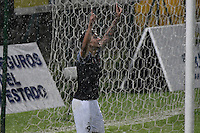 BOGOTA - COLOMBIA -14 -09-2016: Cristian Arango jugador de Envigado FC celebra después de anotar un gol a Fortaleza CEIF durante por la fecha 12 de Liga Águila I 2016 jugado en el estadio Metropolitano de Techo en Bogotá. / Cristian Arango player of Envigado FC celebrates after scoring a goal to Fortaleza CEIF during the match for the date 12 of the Aguila League II 2016 played at Metropolitano de Techo stadium in Bogota. Photo: VizzorImage / Gabriel Aponte / Staff.