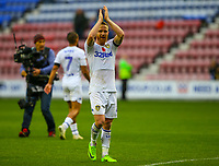 Leeds United's Adam Forshaw applauds the fans after the match<br /> <br /> Photographer Alex Dodd/CameraSport<br /> <br /> The EFL Sky Bet Championship - Wigan Athletic v Leeds United - Sunday 4th November 2018 - DW Stadium - Wigan<br /> <br /> World Copyright &copy; 2018 CameraSport. All rights reserved. 43 Linden Ave. Countesthorpe. Leicester. England. LE8 5PG - Tel: +44 (0) 116 277 4147 - admin@camerasport.com - www.camerasport.com