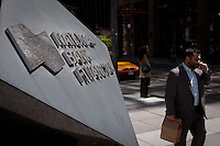 National Bank Financial logo is seen in Toronto financial district April 22, 2010. National Bank of Canada (Banque Nationale du Canada) (TSX: NA) is the 6th largest bank and 7th largest financial institution in Canada.