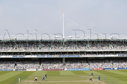 3 September 2005: General view of the ground during the Cheltenham and Gloucester Trophy final between Hampshire and Warwickshire at Lords, London. Photo: Steve Bardens/Actionplus..050903 venues grandstand