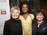 Helen Lee Henderson, Chisa Hutchinson and Iris Rainer Dart  attends the reception for Dramatists Guild Fund Fellows Presentation 2015-2016 at Playwrights Horizons on September 19, 2016 in New York City.