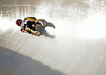 6 February 2009: Natalie Geisenberger from Germany slides through a curve in the Women's Competition finishing second for the event with a combined time of 1:28.285 at the 41st FIL Luge World Championships, in Lake Placid, New York, USA. .  .Mandatory Photo Credit: Ed Wolfstein Photo