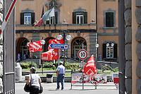 Il presidio all'ospedale San Camillo, Roma, 7 giugno 2010, contro i tagli alla sanita'..UPDATE IMAGES PRESS/Riccardo De Luca